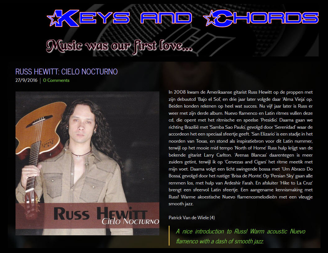 €�a Nice Introduction To Russ! Warm Acoustic Nuevo Flamenco With A Dash Of  Smooth How To Be A Latin Lover