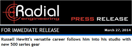 Radial Engineering Press Release