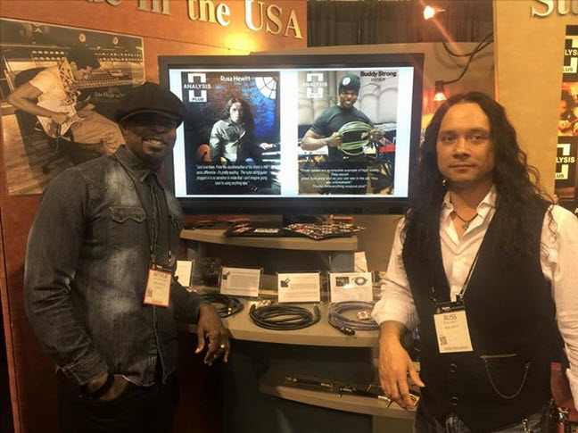 The Analysis Plus Cable booth at NAMM